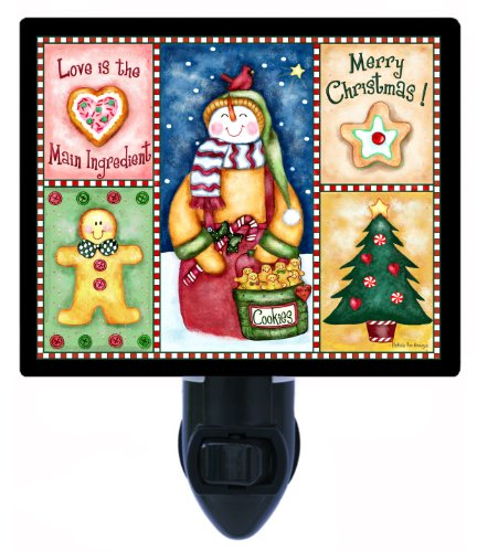 Christmas Cookie Sampler Night Light, Snowman, Gingerbread Man