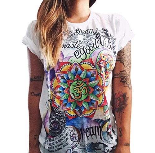 Tee Shirt Punk Cs Rock Camicetta Maglietta Zhiyuanan Stampa Elegante T Donna Top qFwS0vxa