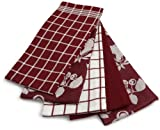 Ritz 5-Piece Egyptian Kitchen Towel Set, Fruit Ming Red