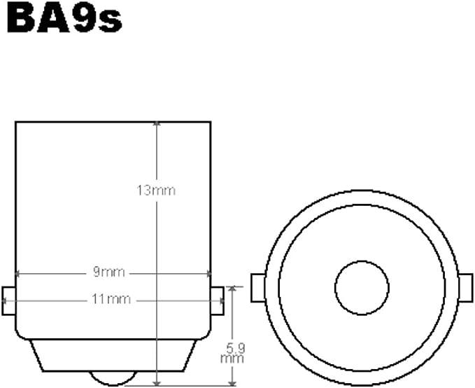 50 X T4w Birnen Lkw Bus Lampe Ba9s T6 5 4w Glühlampe Glühbirne 24v Auto