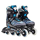 Optimal Kid's Adjustable Size Inline Skates Cool Rollerblade With Protective Gears Helmets Provided Safe Inline Roller Skates For Boys Girls Perfect Gift