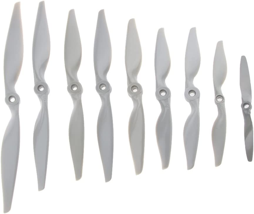 5Pack Thin Electric RC Plane Model Airplane Composite Propeller Fixed-Wing 12x6