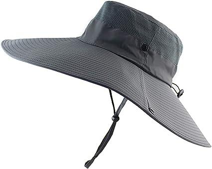 Waterproof Bucket For Fishing Hiking Camping Super Wide Brim Sun Hat UPF50