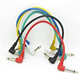 Patch Cable Guitar Connection Cable Wire Effect Pedal Cable Short Anti-Noise Audio Cable Pack of 6