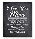 Mom Quote Chalkboard Wall Art Print Plaque, Perfect Review and Comparison