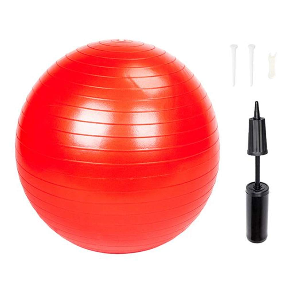 Duona 85cm 1600g Gym/Household Explosion-Proof Thicken Yoga Ball Smooth Surface Red