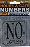 House or Gate number sticker - No canvassers