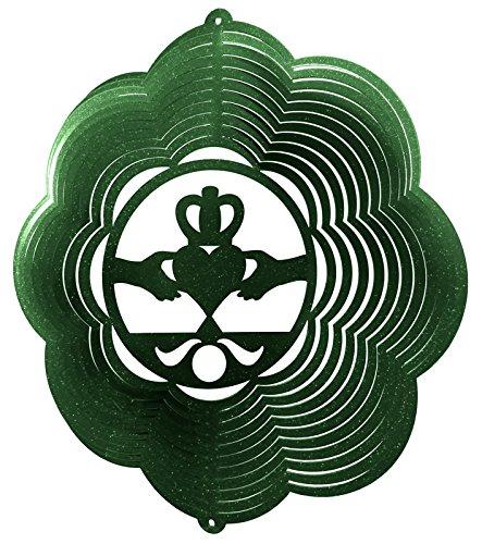 Claddagh Irish Celtic Cloud Metal Wind Spinner 2406 B001VA161U グリーン