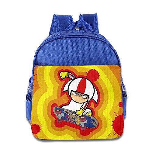 Kids Kick Buttowski Suburban Daredevil School Backpack Cartoon Baby Boys Girls School Bag RoyalBlue (Kick Buttowski Games)