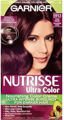 Garnier Nutrisse Ultra Color Nourishing Hair Color Creme, BR3 Intense Burgundy (Packaging May Vary)