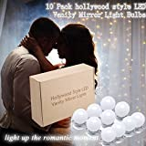 Makeup Mirror Lights,KAZOKU Hollywood Style LED Vanity Mirror Lights 10 LED Bulbs Kit with Dimmable Light Bulbs, Lighting Fixture Strip for Makeup Vanity Table (13.5 Foot,Mirror Not Included)