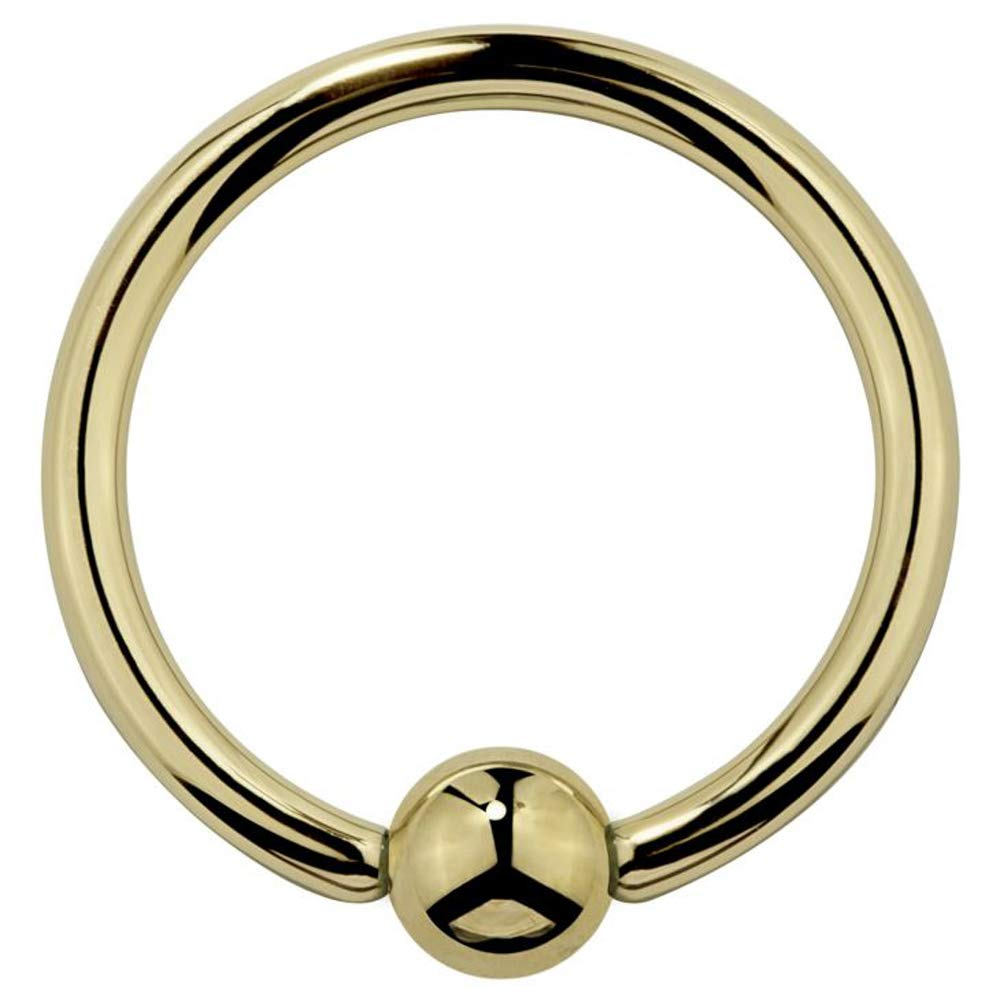 FreshTrends 14K Yellow Gold Captive Nose Ring Cartilage Tragus Earring 18G