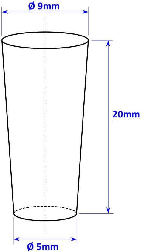 Tuuters.de 10 X tappo in silicone ☆ tappo conico ☆ Pfropf ☆ tappo di copertura ☆ tappo di gomma Mix 1x jede Gr/ö/ße