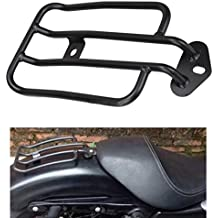 "Solo Seat Luggage Rack Shelf Frame Rack Support Shelf W/7"" Mounting HoleFor Harley Davidson Sportster XL 883 1200 2004-2015Black"