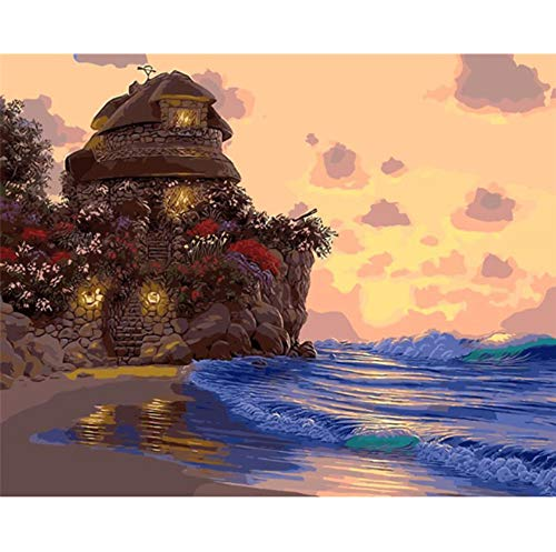 Jigsaw Puzzle 1000 Piece 3D Puzzle Island Beautiful House Dreamy Sea DIY Home Decor Wall Art Spring