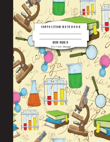 School Science Labs (Composition notebook wide ruled 8.5 x 11 inch 200 page,Colorful fun lab and science: Large composition book journal for school student/teacher/office)