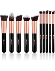 BESTOPE Make Up Set de 10 pinceaux cosmétiques avec poils synthétiques Set pinceaux cosmétiques pour professionnels ou amateurs set de pinceaux de maquillage (or rose)