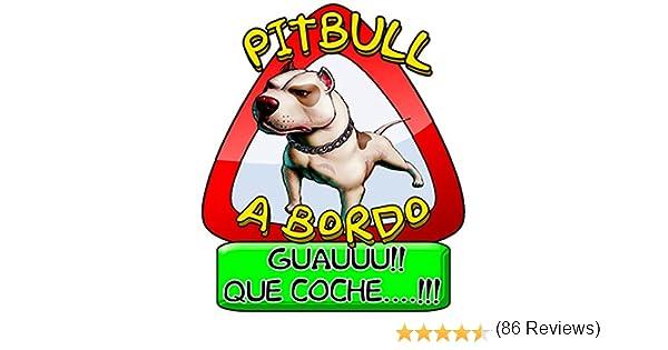 Pegatina Pitbull perro a bordo