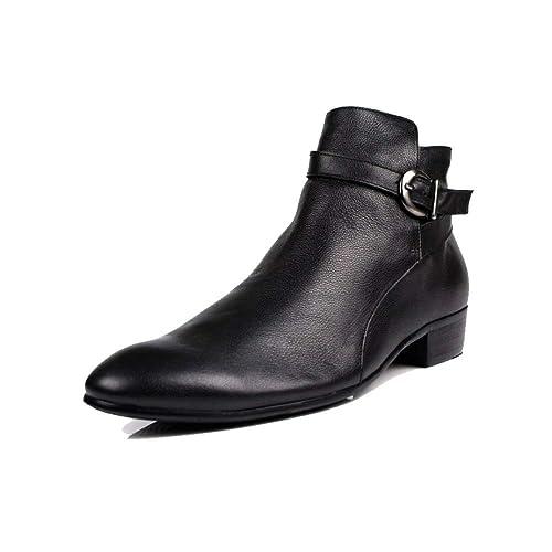 Hombres, Botas De Cuero, Inglaterra, Moda, Botines, Corea, Al Aire Libre, Cómodo, Simple: Amazon.es: Zapatos y complementos