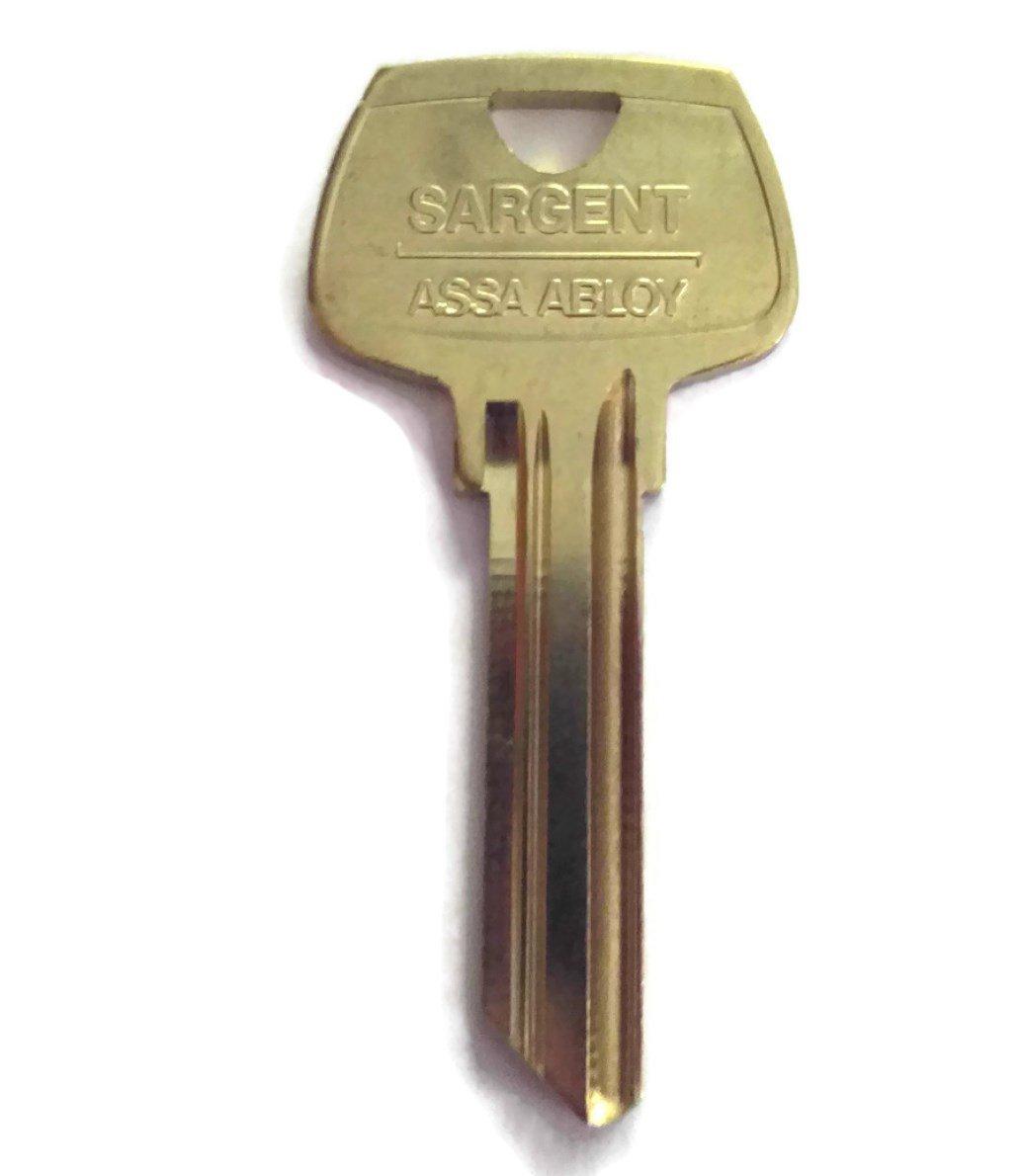 Factory Original Pkg of 10 Sargent 6 Pin Key Blank 6270 RN Keyway