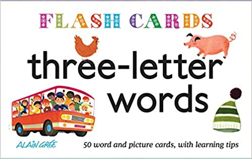 three letter words flash cards alain gre 9781908985545 amazoncom books