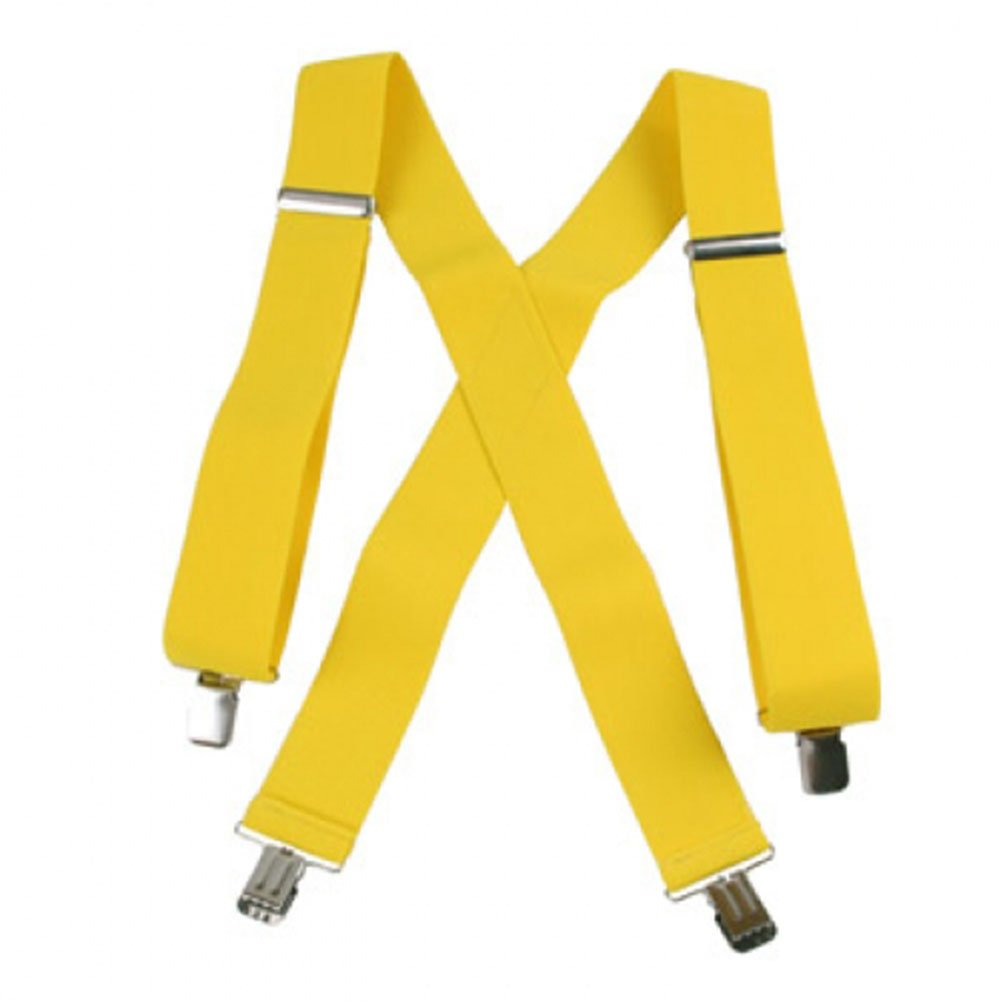Jumbo Clip Suspenders - Canary Yellow (2) Suspender Factory TA220N48CANA