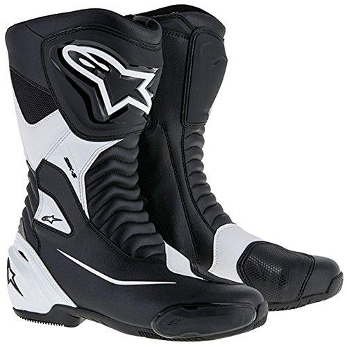 Alpinestars SMX S Men's Street Motorcycle Boots - Black/White / ()