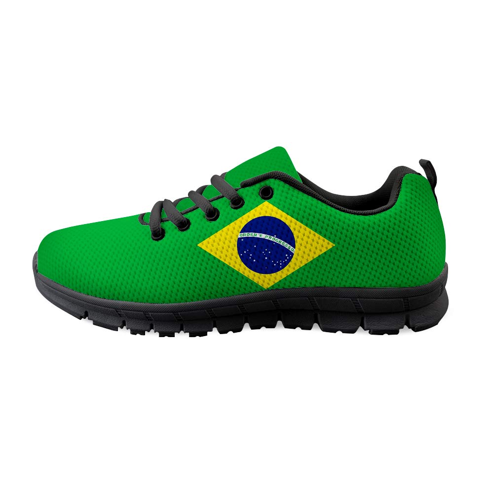 Owaheson Lace-up Sneaker Training Shoe Mens Womens Brazil Flag