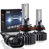 Best Headlight Bulbs - H11/H8/H9 LED Headlight Bulbs Conversion Kit, DOT Approved Review