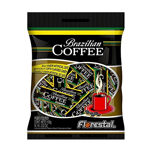 Florestal Coffee Candy, Authentic Real Brazilian Coffee Flavored Hard Treats - Gluten Free