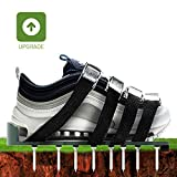 SmartUlife Lawn Aerator Shoes with 4 Adjustable Straps and 26 Nails - Heavy Duty Spiked Sandals for Lawn Or Yard Aeration