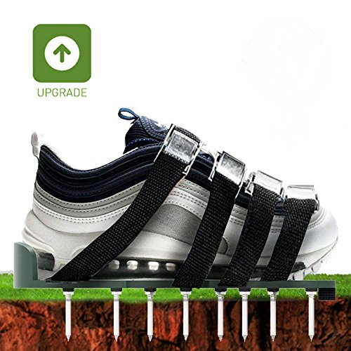 SmartUlife Lawn Aerator Shoes with 4 Adjustable Straps and 26 Nails - Heavy Duty Spiked Sandals for Lawn Or Yard Aeration by SmartUlife