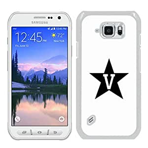 Fashionable Samsung Galaxy S6 Active Case ,Unique And Popular Designed Case With Southeastern Conference SEC Football Vanderbilt Commodores 06 White Samsung Galaxy S6 Active Great Quality Screen Case