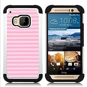 For HTC ONE M9 - lines summer pink horizontal pattern Dual Layer caso de Shell HUELGA Impacto pata de cabra con im????genes gr????ficas Steam - Funny Shop -
