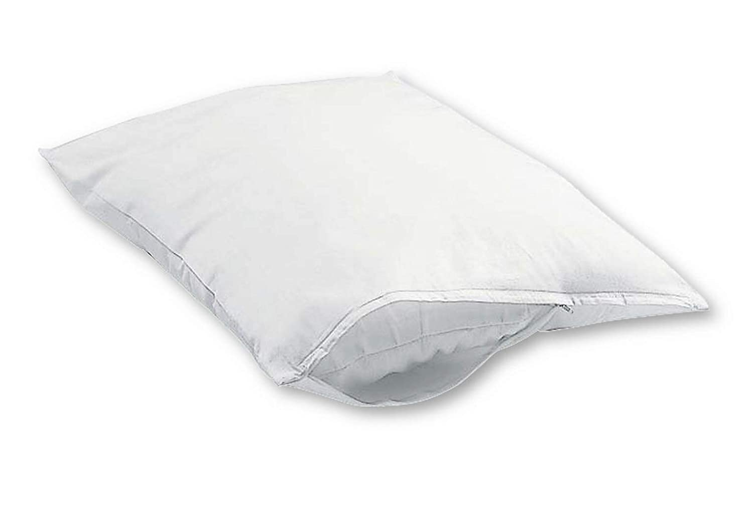 Excellent Art 100% Cotton Zippered Pillow Protector Cover, Set of 2, King T200K