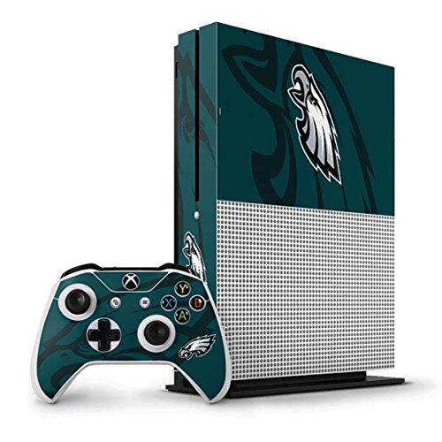 Price comparison product image NFL Philadelphia Eagles Xbox One S Vertical Bundle Skin - Philadelphia Eagles Double Vision Vinyl Decal Skin For Your Xbox One S Vertical Bundle