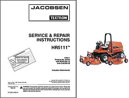 Array - jacobsen hr 5111 rotary lawn mower repair service workshop      rh   amazon ca