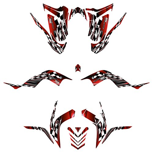 Yamaha Raptor 700R 2006-2012 Graphics Decal Kit by Allmotorgraphics NO2500 red Yamaha Raptor Ebay