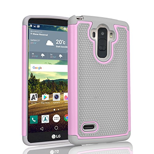 LG G Stylo Case, LG Stylus Case, Tinysaturn(TM) [Ysaturn Series] [Fresh Pink] Shock Absorbing Bumper Hard Shell Rubber Impact Defender Slim Scratch-Proof Cover Case For LG G Stylo LG G4 Stylus(LS770) For Sale