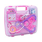 Fun Little Toys Assorted Pink Girl Doctor Nurse Medical Kit Pretend & Play Learning Playset With Durable Box
