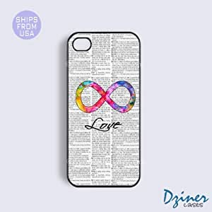 iPhone 4 4s Tough Case - Newspaper Colorful Infinity Love iPhone Cover