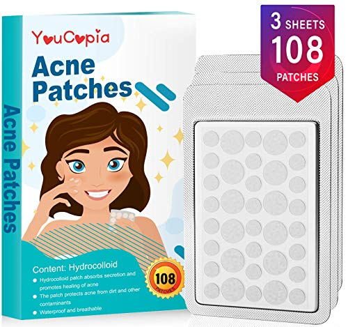Invisible Acne Patch,Isolating Cosmetics and Secondary Pollution.Acne Pimple Master Patch,Upgrade Acne Solution,Not Awkward, No Acne pits,Smooth The Skin (108 Patches)