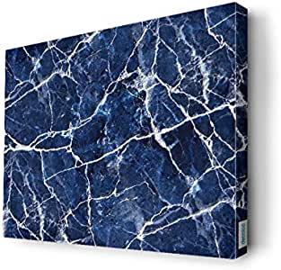 blue and white Wall Canvas by Decalac,40x 30cm - 19077