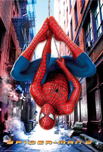 ShopForAllYou Posters & Prints Spider-Man 2 - Movie Poster/Print (Hanging Upside Down) (Size: 27