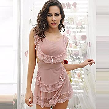 mieux aimé 50aab e5036 GAOQIANGFENG la Femme Sexy Lace Pyjama, Court, Transparent ...