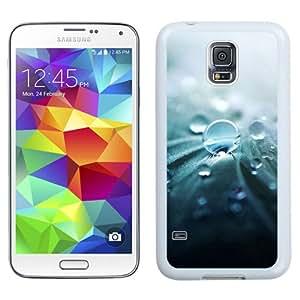 Unique Designed Cover Case For Samsung Galaxy S5 I9600 G900a G900v G900p G900t G900w With Ml Raindrops Nature Leaf Art Green (2) Phone Case