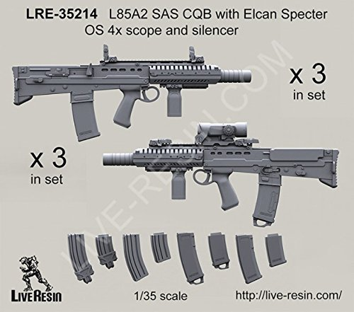 Live Resin 1:35 L85A2 SAS CQB w/ Elcan Specter OS 4x Scope & Silencer #LRE35214