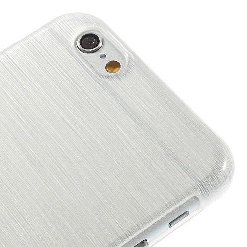 iProtect Apple iPhone 6, 6s Hülle Soft Case TPU Schutzhülle Brushed Edition weiß
