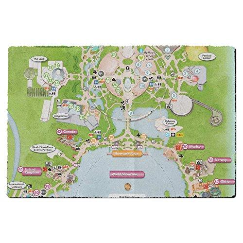 Epcot Center Map Door Mat - Small Door Mat - Indoor - Queens Center Map