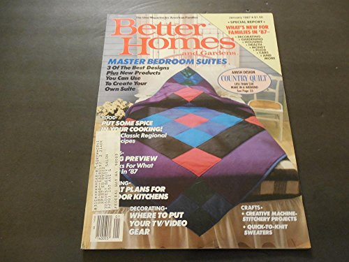 Better Homes and Gardens Jan 1987, Amish Country Quilts, Master Suites